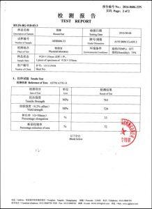 A193 B8M CL2 üçün sertifikat