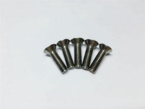 Onurğa əməliyyatı üçün M3, M6 titan vida düz baş yuva başlığı titan flanş vintləri
