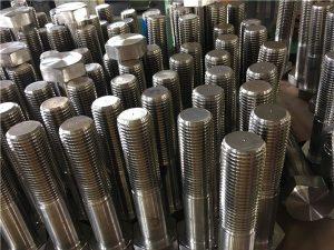 No12 altıbucaqlı boltlar ISO4014 yarım iplik A193 B8, B8M, B8T, B8C SS bərkidici